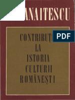 Petre P Panaitescu_Contributii La Istoria Culturii Romanesti