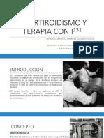Tratamiento con yodo 131 en Medicina Nuclear