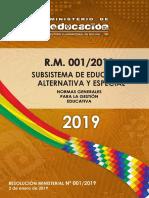 SUBSISTEMA DE EDUCACIÓN ALTERNATIVA Y ESPECIAL