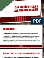 Eq. 1 Practicas Linguisticas y Practicas Argumentativas