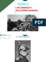 Tema 5 - Primera Guerra Mundial