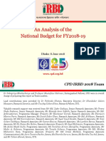 CPD Presentation on Analysis of the National Budget for FY2018 19