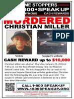 Christian Miller Crime Stoppers Poster