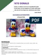 Pato Donald Amigurumi Tejidos Thina