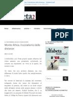 Monte Athos, Il Socialismo Delle Distanze - Alfabeta2