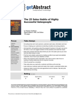 25 Skills for Succesful Sales People