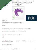 Utilisation de l'Activateur Buccal Kinépod - Les Gouttières Dentaires Actives - Activateurs Dentaires