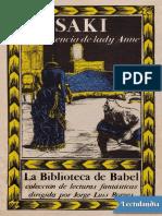 Saki, La Reticencia de Lady Anne