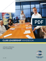 Toastmasters Club Leadership Handbook