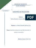 COMPETENCIAS DOCENTES QUE DEBE DESARROLLAR UN PROFESOR UNIVERSITARIO.docx