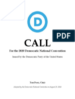 Call for the 2020 Democratic National Convention