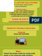 Hardware and networking course - Dead problem trouble shooting