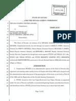 Wynn Resorts Executed Complaint