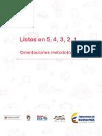 2. Todos Listos Orientaciones metodológicas