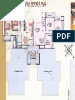 Golf View Apartment - 6th Floor Plan