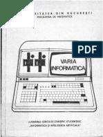 VARIA INFORMATICA 1988