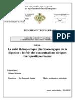 Le Suivi Therapeutique Pharmacologique