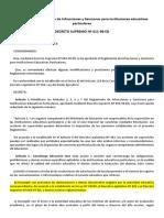 Decreto Supremo Nº 011-98-Ed