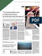 """""""Los peruanos no conocemos los territorios de frontera"""""""