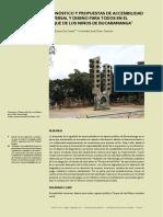 Diagnóstico y propuestas de accesibilidad universal y diseño para todos en el Parque de los Niños de Bucaramanga