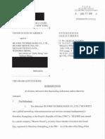 U.S. Indictment against Huawei CFO Meng Wanzhou