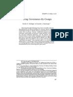 Saving Governance by Design