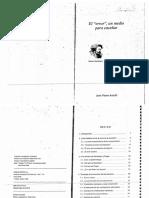 01 J. P. Astolfi - El Error Un Medio Para Enseñar