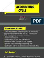 Lesson 11- The Accounting Cycle