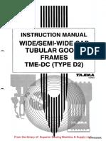 Tajima TME-DC(Type 2) Wide Cap Tubular Goods Frame Instruction Manual (1)