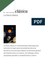 Física Clásica - Wikipedia, La Enciclopedia Libre