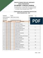 Daftar Hadir Siswa Pra Ukk 2018
