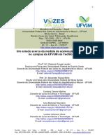 Um estudo acerca da medida da aceleração da gravidade no campus da UFVJM em Teófilo Otoni