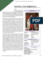 Jaime VI Da Escócia e I de Inglaterra – Wikipédia, A Enciclopédia Livre