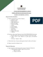 PROTOCOLO DE EXAMEN RINOMETRIA ACUSTICA