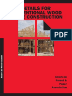 Details for Conventional Wood Frame Construction