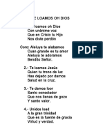 050.- Te Loamos, Oh Dios