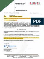 Bid Declaration Letter