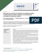 2014 Evolución de la marcha en pacientes con parálisis cerebral y desplazamiento asistido, mediante su entrenamiento con equipo de asistencia robótica Rehabilitación.pdf