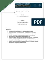 Actividades de La u3- Admon de Operaciones