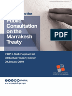 Public Consultation on the Marrakesh Treaty 2019 [Press Kit]