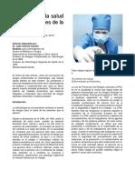 Riesgos Para La Salud en Profesionales de La Odontología