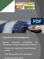 Pengembangan Produk & Kebutuhan Pelanggan Serta Peluang