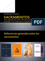 Los Sacramentos en La Escritura, CIC, CEC, Y SC