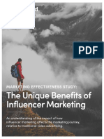 Marketing Effectiveness Study—the Unique Benefits of Influencer Marketing Paid x Nielsen