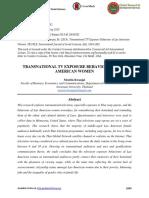Transnational Tv Exposure Behaviour of Lao American Women