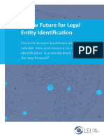 Gleif Research Report a New Future for Legal Entity Identification Final