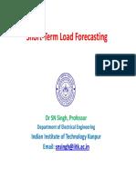 Short-Term Load Forecasting - Dr. S. N. Singh