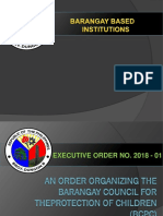 An Order Organizing the Barangay Council for Theprotection