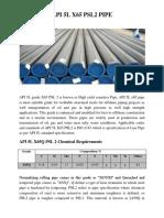 API 5l x65 Psl2 Pipe