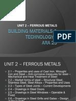 Unit 2 - Ferrous Metals